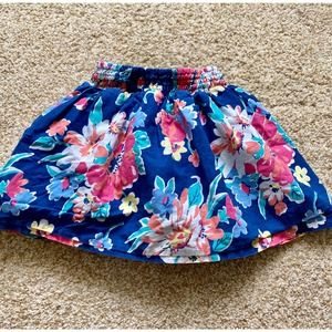 1989 Place girls 3T blue floral skirt